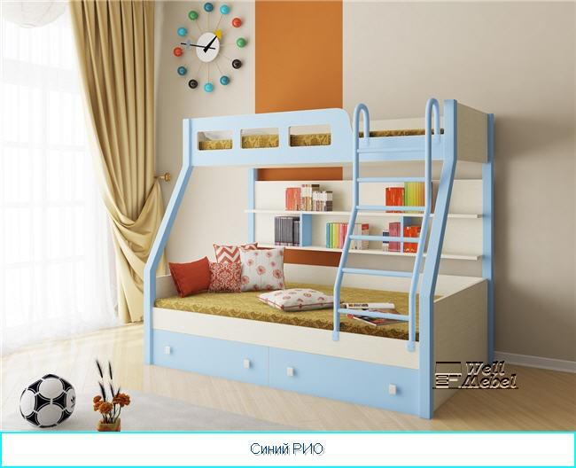 двухъярусную кровать для